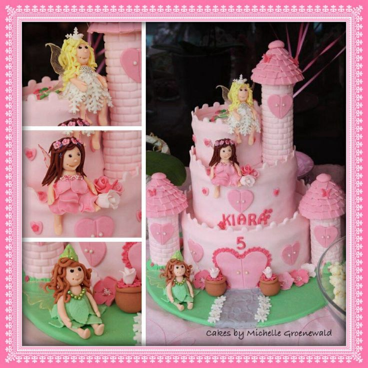Fairy princess castle cake Kids cakes by Michelle ...
