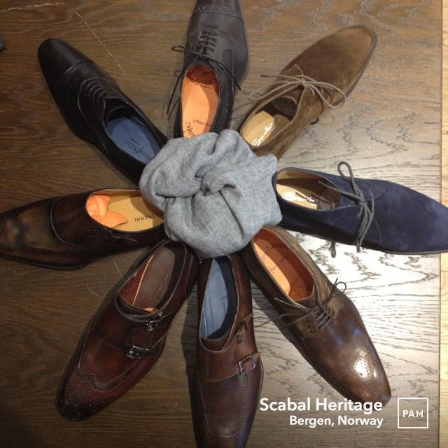 Crafted footwear from Italy and Spain @ Scabal Heritage. #aw13 #santoni #madeinitaly #zampiere and #magnanni #madeinspain #attentiontodetail #heritage #craftmanship #elegance #exclusive #luxuryfootwear #italiandesign #spanishdesign #dapper #preppy #mensfashion #mensfootwear #scabalheritage #menswear #hybridshopping #bergen #norway