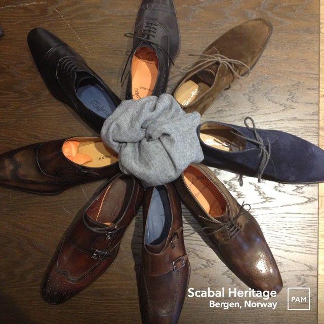 Nye høstsko i butikk, her vist: Magnanni, Zampiere og Santoni. #menswear #santoni #magnanni #zampiere #hybridshopping #bergen