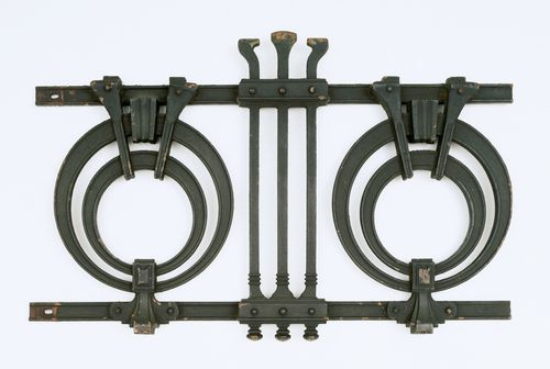 Otto Wagner Iron railing.