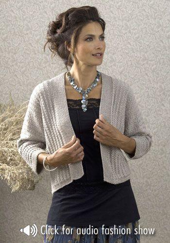 Pattern?? Jacket, knitted sideways.