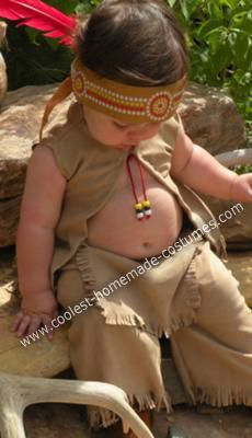 """I love this photo... with the pudgy belly sticking out! Website reads: """"Indian Costume: These Cowboy and Indian costumes were for my twins, I basically put together the cowboy costume from different items I searched for and bought, some retail"""""""