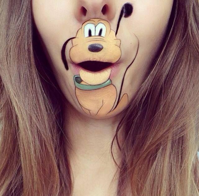 maquillages de bouche en personnages de cartoon pluto maquillages de bouche en personnages de cartoon photo maquillage lèvre Laura Jenki...