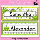 These fun frog theme nameplates will look fantastic on student's desks! You can either write the students' names by hand or edit the included Power...