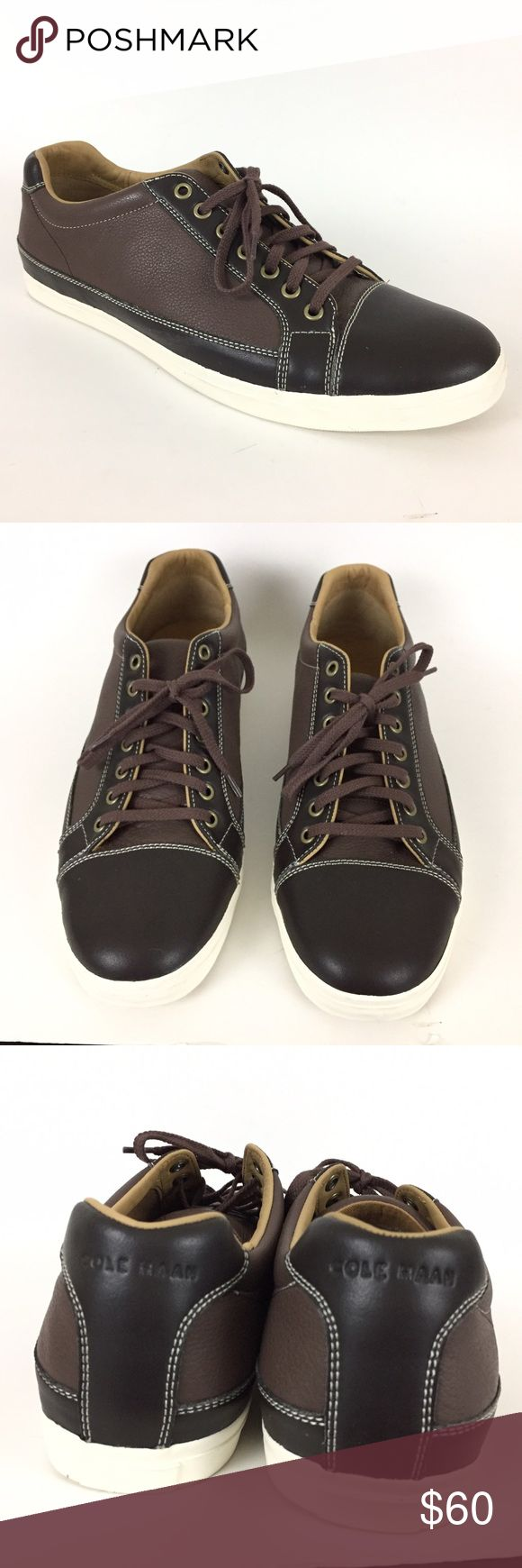 Men's Cole Haan Jax Brown Leather Sneakers