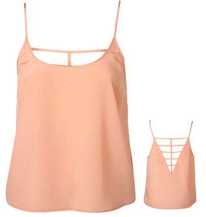 Lattice Back Crop in orange (Top Shop)