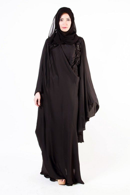 Latest Designer Abayas Modern Gowns Designs & Hijab Collection 2015-2016 for Ladies | GalStyles.com