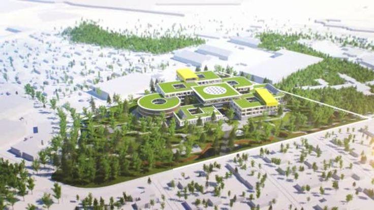 LEGO Group new global hub office complex in Billund, Denmark, by C.F. Møller Architects