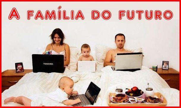 Resultado de imagem para charges - familias moderna