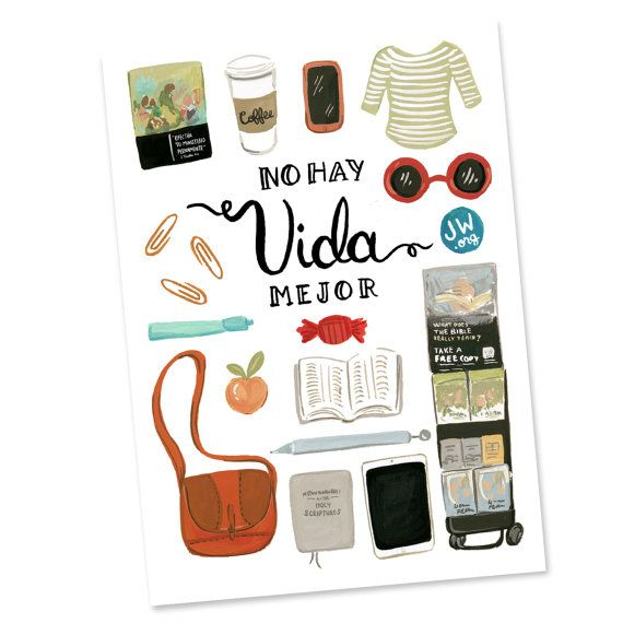 No Hay Vida Mejor Spanish JW Card Best Life Ever by SeasonedWSalt