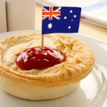 Australian Meat Pie - this recipe worked perfectly for our Aussie party!  Made individual pies.