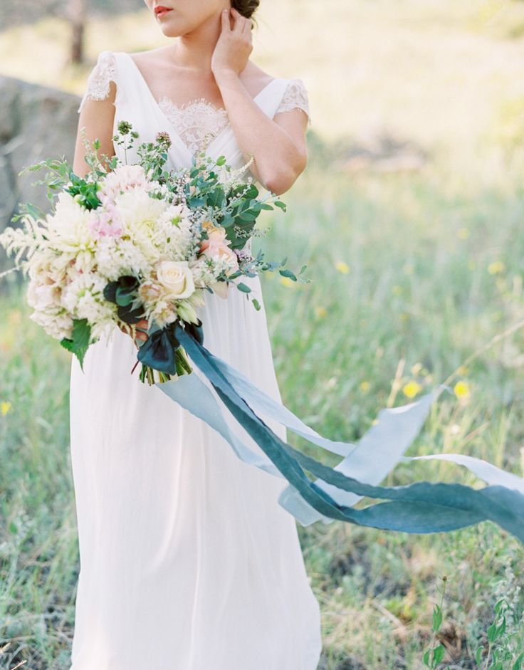 Pretty blue flowing ribbon bouquet: http://www.stylemepretty.com/2015/11/04/the-best-ever-ribbon-bouquets-you-need-to-see-right-now/