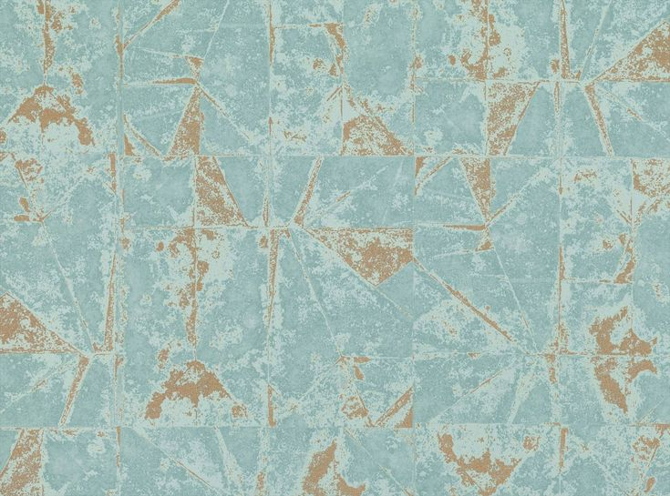 Villa Nova Venezia Teal W559-01 Wallpaper | 2018 Wallpaper Collections | TM Interiors  Inspired by folded sheet metal, Venezia Wallcovering incorporates metallic elements with a degraded look creating a tarnished and industrial appearance.  Venezia Teal W559-01 by #VillaNova #wallpaper
