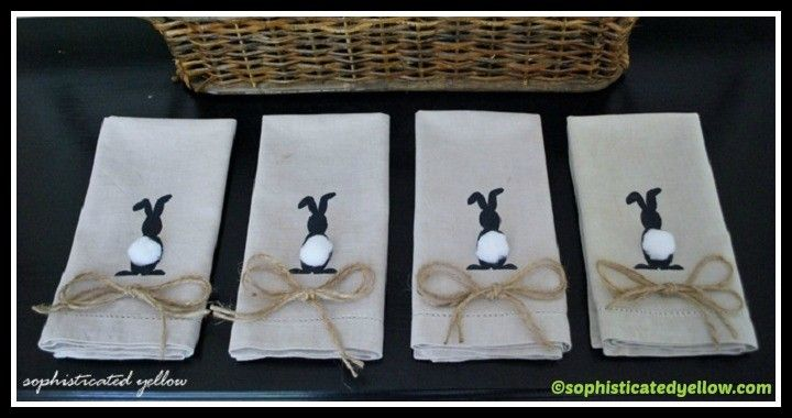 DIY Eater Bunnies Napkins Tutorial