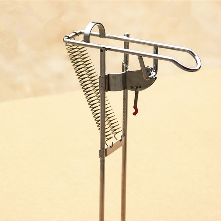 Steel Automatic fishing rod mount spring fishing pole holder sea rod fishing tackle supplies AT2311 Nickel Plated High Strength