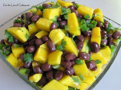Mango & Black Bean Salsa: •2 large ripe mangos, peeled and chopped ...