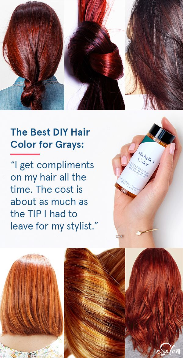 """Fast Fix for Gray Hair:""""The custom hair coloring is perfect. I have had better results with eSalon than what I have had at a salon...I love the color and having my own go to specialist who will help with any adjustments that I need to make. Amazing product!"""""""
