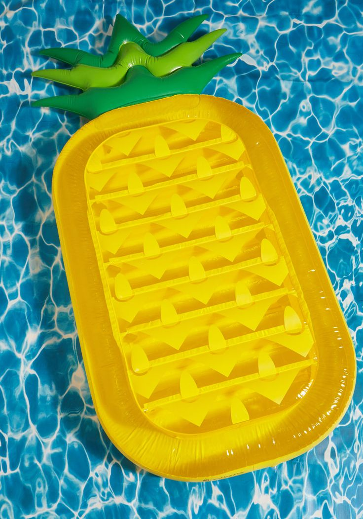 And Anana Thing Pool Float. If you think your poolside panache invites a lot of compliments, just wait until youre seen with this inflatable raft! #yellow #modcloth