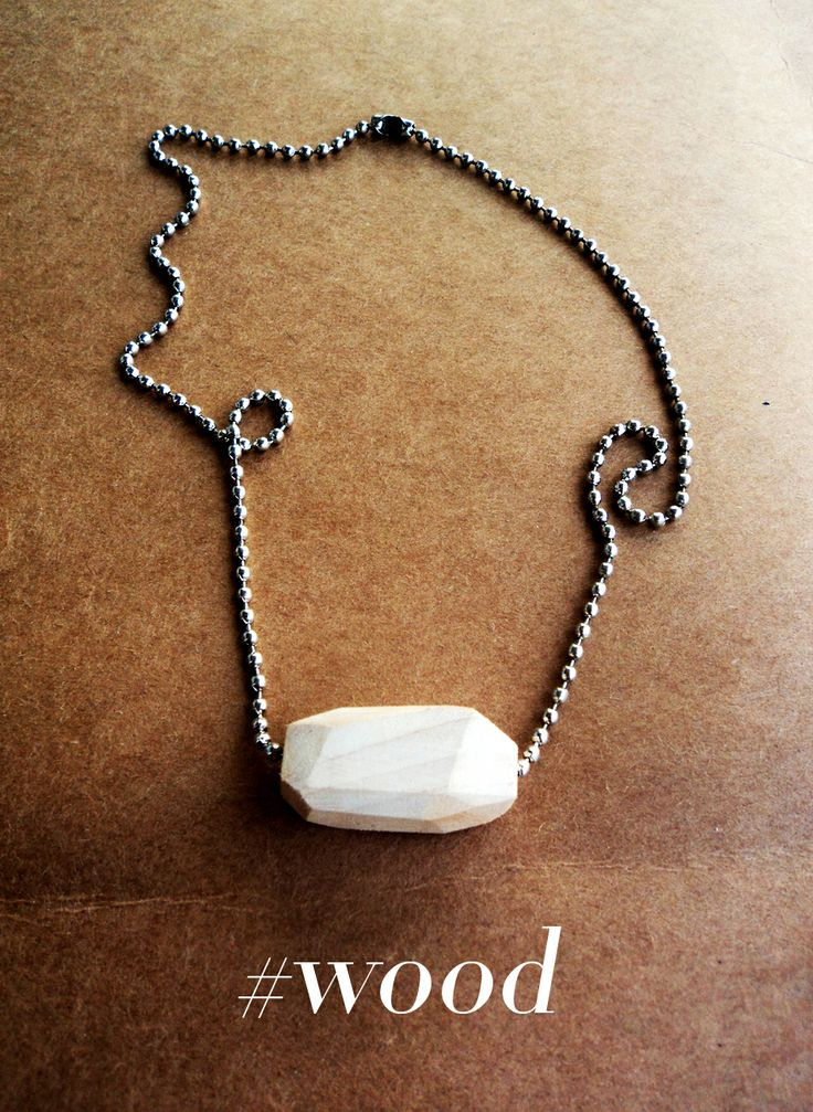 Wood Marble Necklace