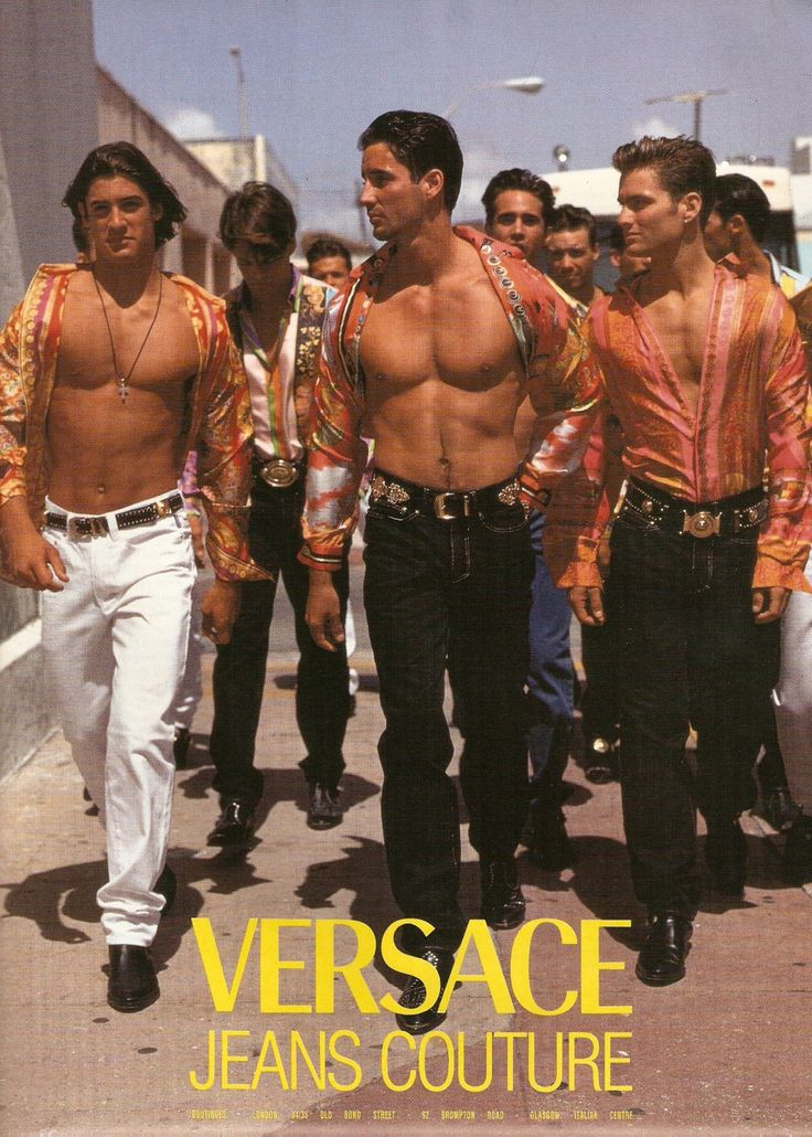 a-state-of-bliss:Versace Jeans 1992 by Doug Ordway