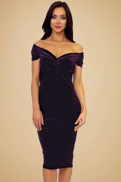 10+ best ideas about Purple Velvet Dress on Pinterest | Velvet gown Sew off shoulder top and ...