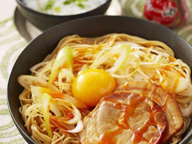 油そば風ピリ辛スタミナ和え麺の画像