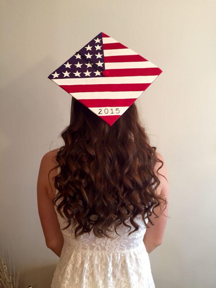 American Flag Graduation Cap Seniors C O 2015
