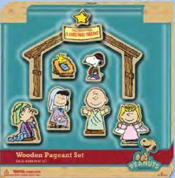 Peanuts Charlie Brown Christmas Wooden Nativity Scene Classic Toy @ niftywarehouse.com #NiftyWarehouse #Peanuts #CharlieBrown #Comics #Gifts #Products