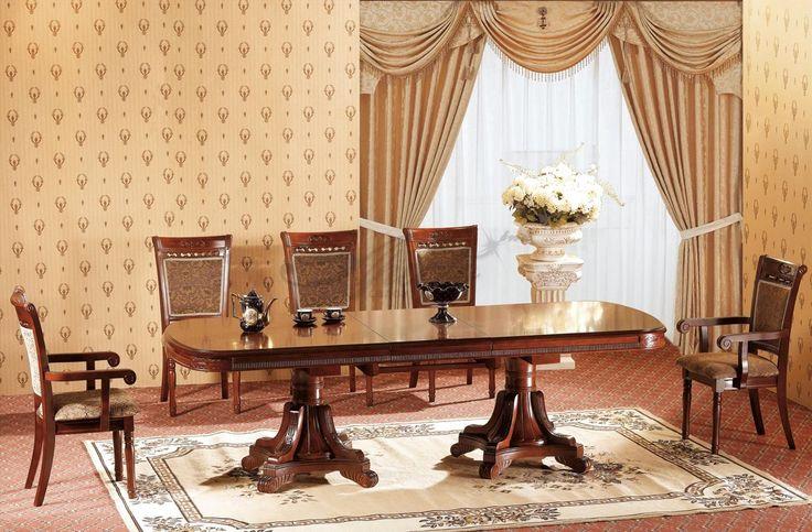 Овальные столы для кухни: тонкости выбора и 80+ комфортных моделей для современного интерьера http://happymodern.ru/ovalnye-stoly-dlya-kuxni/ Раздвижной овальный стол из дерева в классическом интерьере