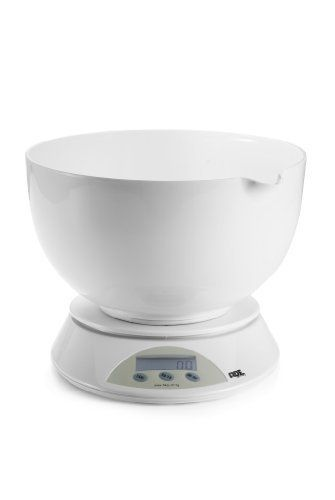 ADE Angelina, Electronic Kitchen Scale by Frieling. $26.93. LCD Display. Bowl only is dishwasher safe. Battery and overload indicator. Automatic shut-off. Weighs in pounds/ounces and kilograms/grams. ADE Germany is a leading innovator in consumer scales. ADE crosses the line from pure functionality (weighing accurately) to design aesthetics. ADE's expertise is also respected for its hospital and industrial scales. The Angelina by ADE, Electronic Kitchen Scale, 9-inch diamet...