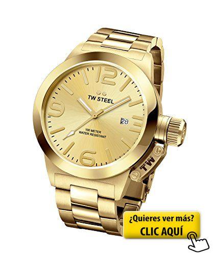 Tw Steel CB101 - Reloj de pulsera para hombre, oro #reloj #hombre