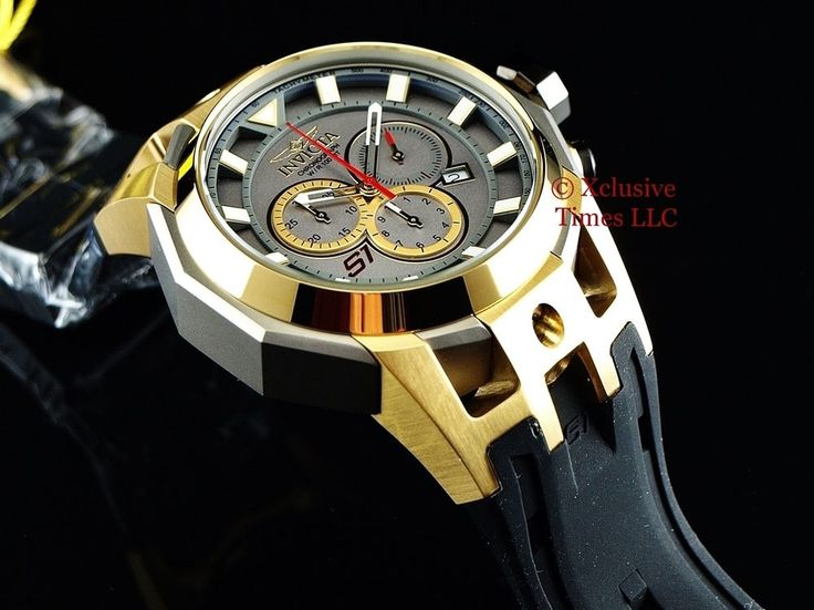 72 best images about invicta watches at red invicta men 50mm titanium s1 rally swiss made chrono 18kgp ss poly strap watch 886678116881