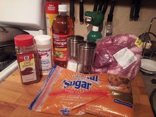 Crock pot pulled pork. Gonna have me some happy boys ( ;
