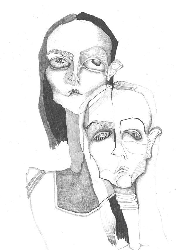 Someone or something by Natasa Kekanovic, via Behance