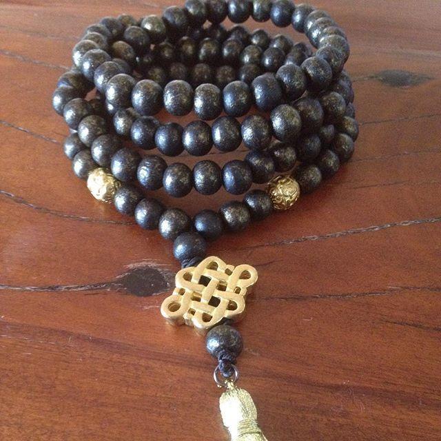 Sacred Sky mala bead design @earthheartmala  traditional108 wooden beads for meditation.