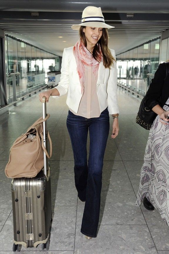 Jessica Alba Chic Travel Style CLICK THIS PIN if you want to learn how you can EARN MONEY while surfing on Pinterest