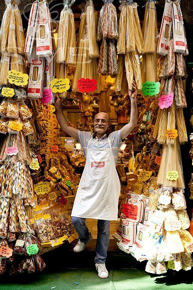 Pasta Shop Keeper ~ Naples, Italy.  never saw this guy though.
