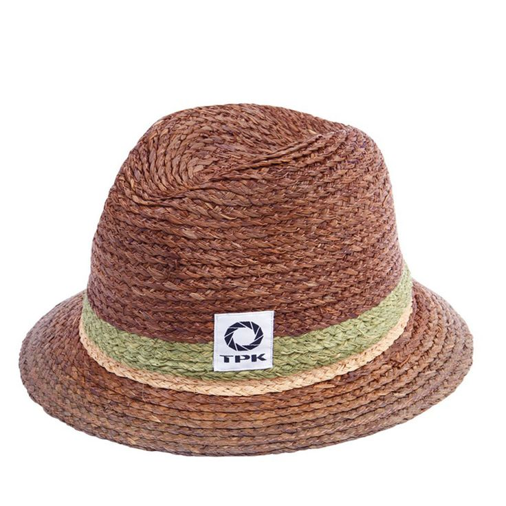 Thomaspaulkay Hat Stripe Fedora Brown #Thomaspaulkay #Fedora