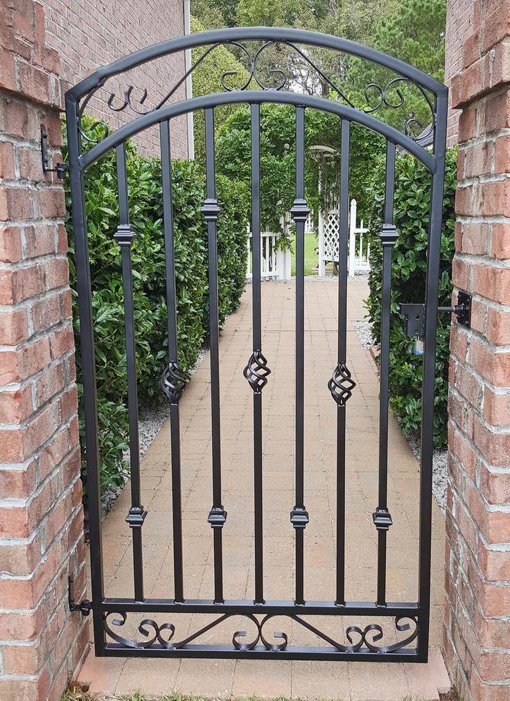 Large Metal Entrance Gate Antique Style Custom 36w x ...