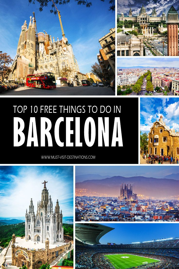 TOP 10 Free Things to See and Do in Barcelona #barcelona #spain