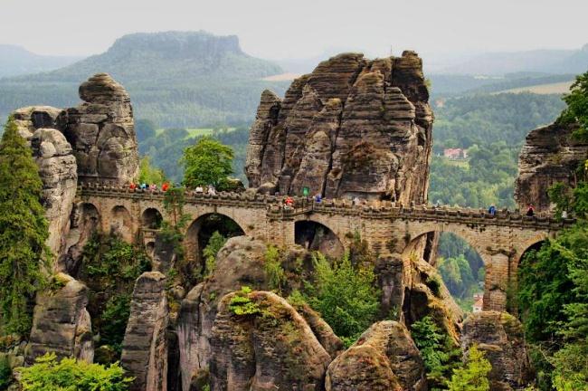 5. Foto -  The National park Saxon Switzerland, Bastei