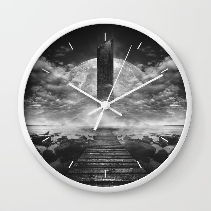 Some day soon Wall Clock by HappyMelvin | Society6