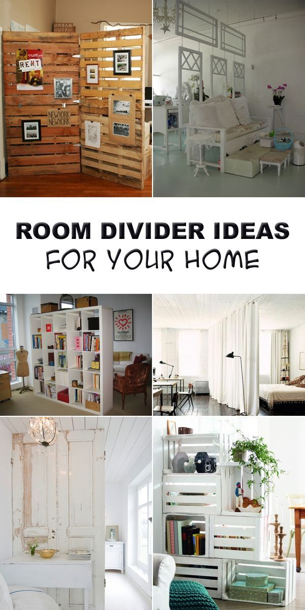 Room divider ideas to help partition a studio apartment or large room.
