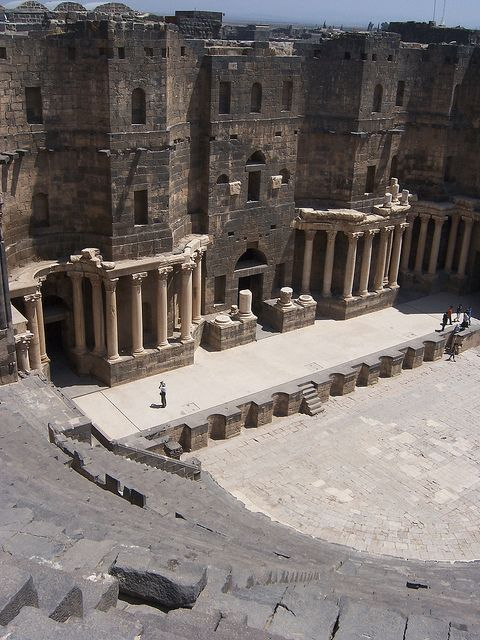 ✯ Theater at Bosra, Syria what i would do for the chance to act on these awsome stages built so long ago