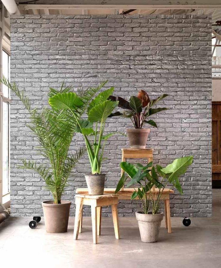 kreative wandgestaltung mit extravagantem fair backstein tapete i silber - Interieur Mit Rustikalen Akzenten Loft Design Bilder