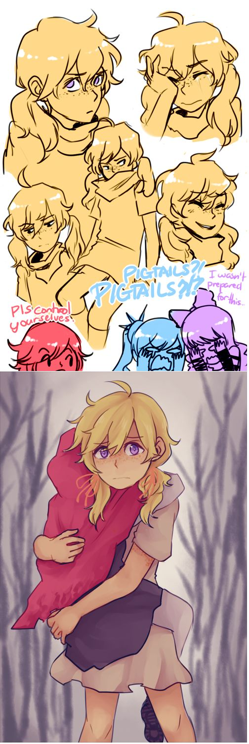 Young Ruby And Yang And Weiss And Blake Cant Handle That Cuteness.