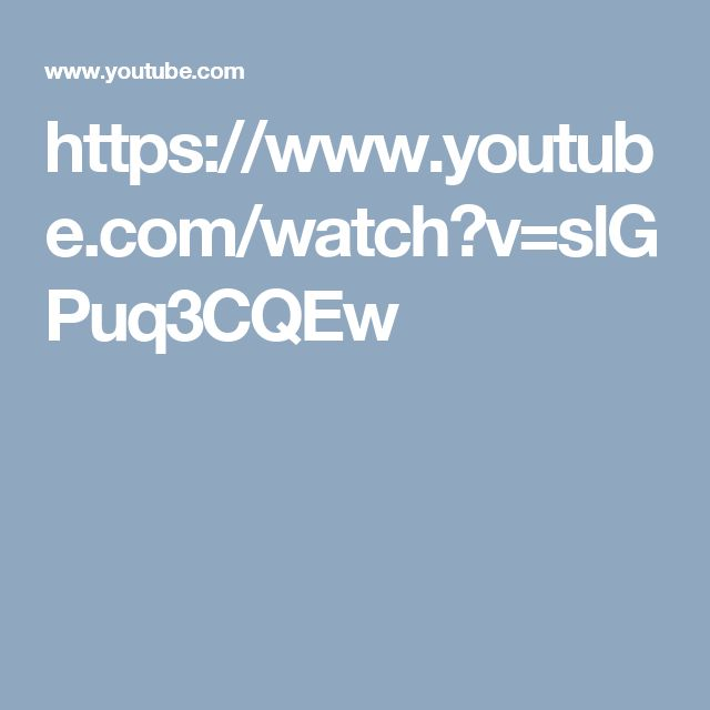 https://www.youtube.com/watch?v=slGPuq3CQEw