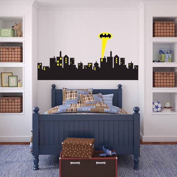 Removable Wall sticker GOTHAM CITY SKYLINE Batman Decal Removable WALL STICKER Home Decor Art-in Wall Stickers from Home & Garden on Aliexpress.com | Alibaba Group