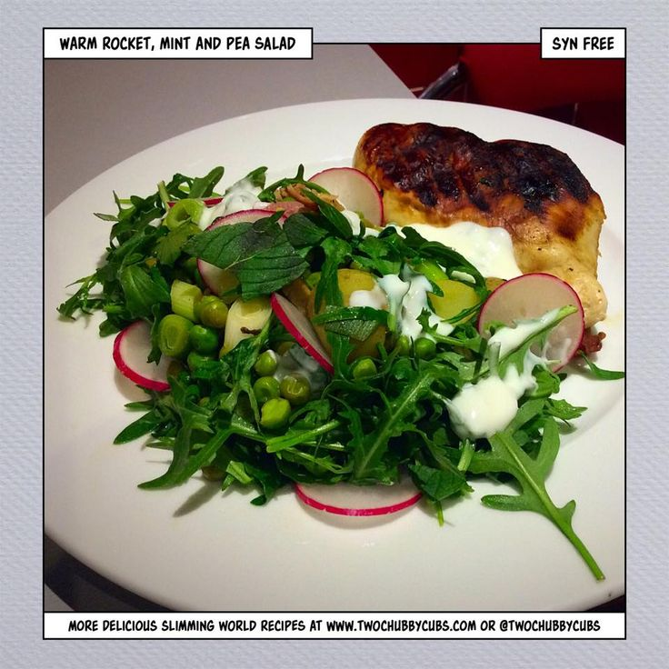 This syn free rocket, pea and mint salad is an easy, tasty and healthy Slimming World lunch using up any old bits from the fridge. Remember, at www.twochubbycubs.com we post a new Slimming World recipe nearly every day. Our aim is good food, low in syns and served with enough laughs to make this dieting business worthwhile. Please share our recipes far and wide! We've also got a facebook group at www.facebook.com/twochubbycubs - enjoy!