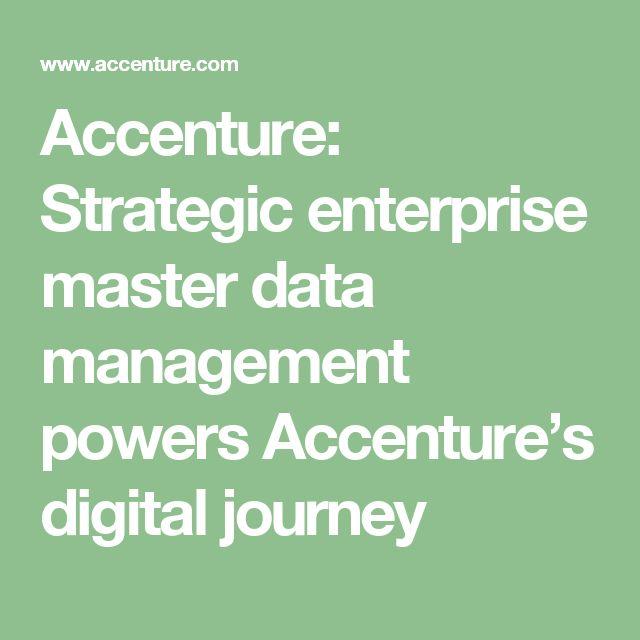 https://thoughtleadershipzen.blogspot.com/ #ThoughtLeadership Accenture: Strategic enterprise master data management powers Accenture's digital journey